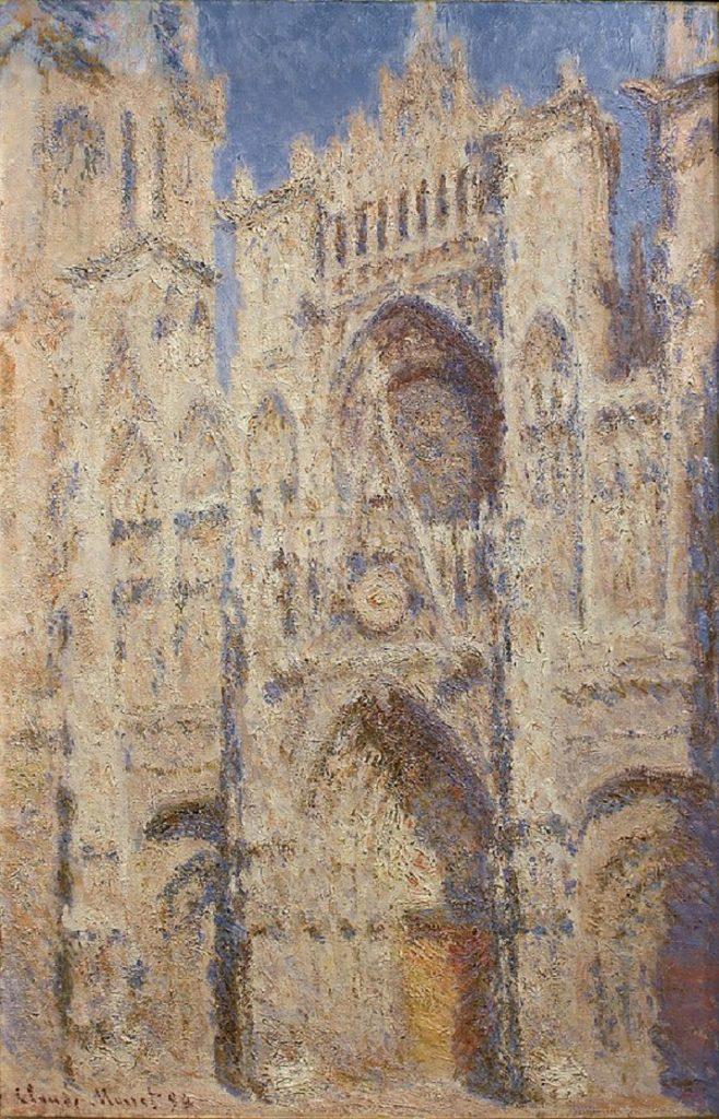 Cattedrale di Rouen di Monet. Primo sole
