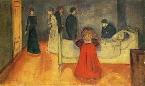 """""""La madre morta e la bambina"""" di Edvard Munch"""