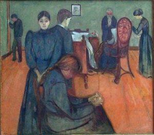 """""""Morte nella stanza della bambina malata"""" di Edvard Munch"""