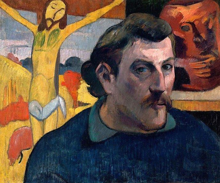 """""""Autoritratto con Cristo giallo"""" di Gauguin"""