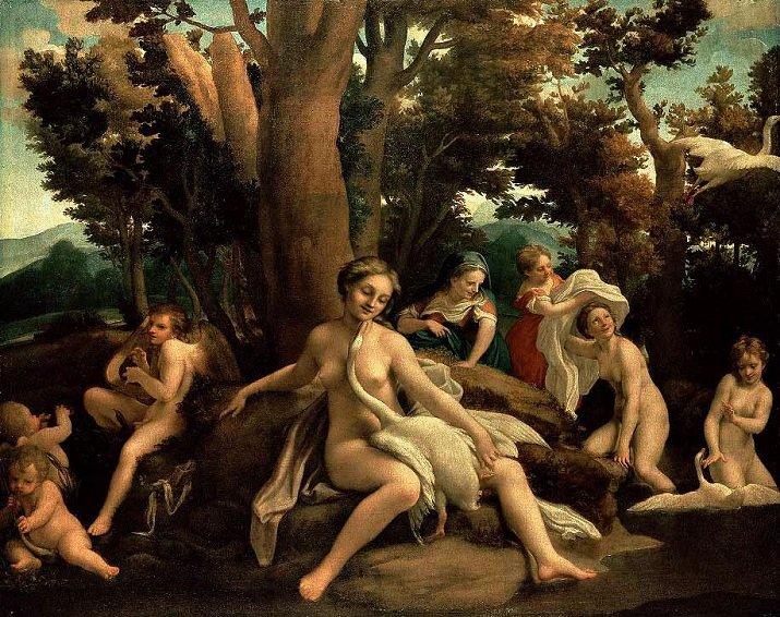 Gli Amori di Giove del Correggio. Leda e il Cigno