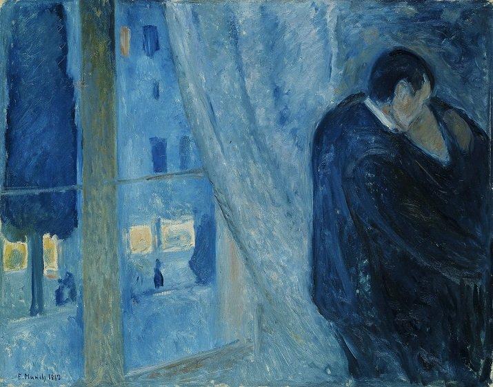 """""""Il bacio con la finestra"""" di Edvard Munch"""