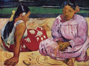 """Due donne tahitiane"" di Gauguin"