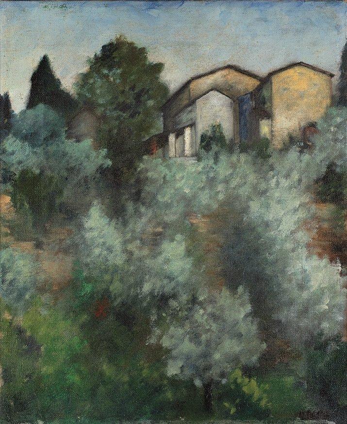 """Collina d'ulivi"" di Ottone Rosai"