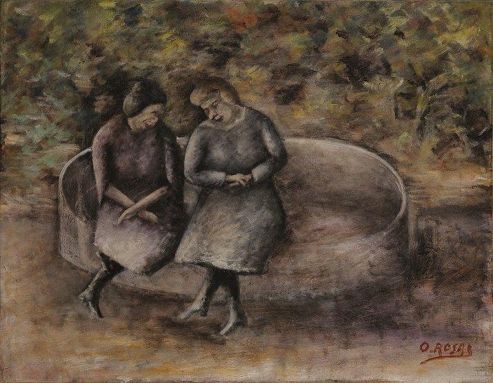 """""""Donne sulla panchina"""" di Ottone Rosai"""