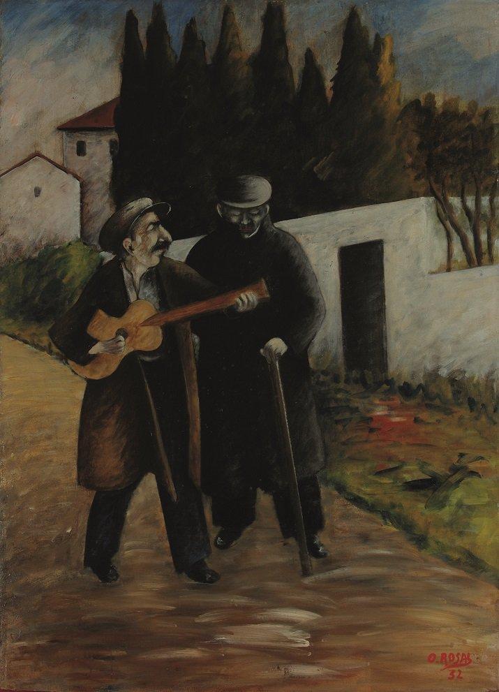 """""""Il cieco e il chitarrista"""" di Ottone Rosai"""