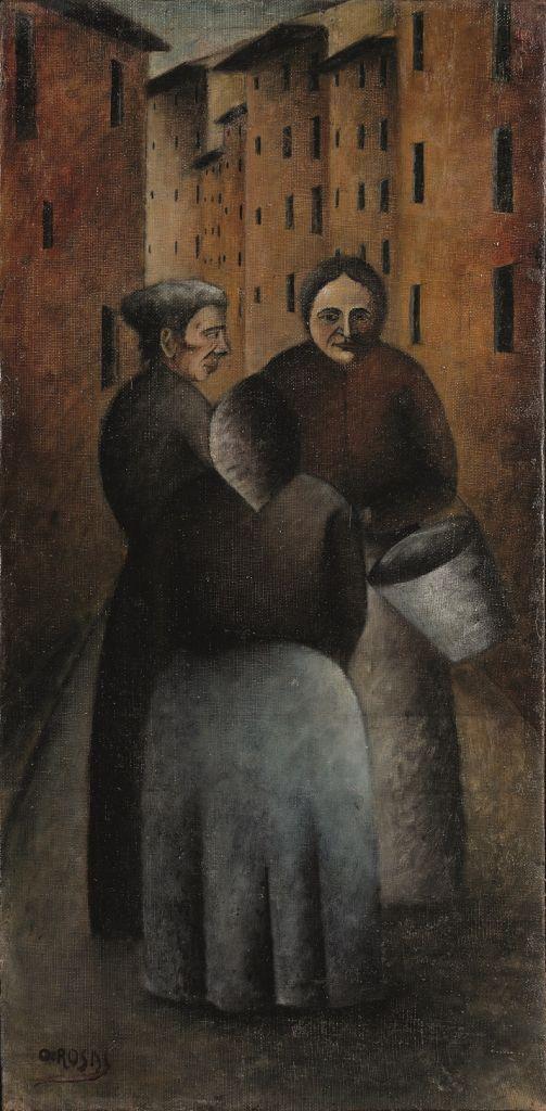"""""""Incontro in via Toscanella"""" di Ottone Rosai"""