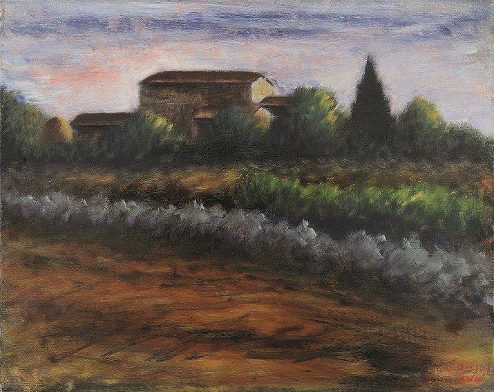 """""""Paesaggio"""" di Ottone Rosai, 1939"""