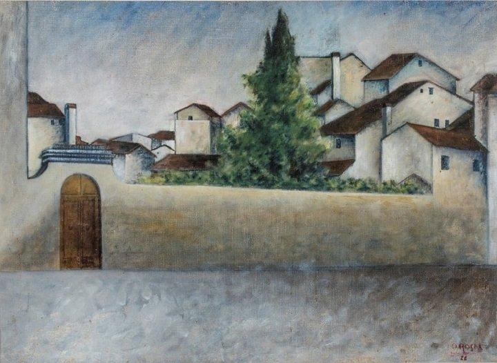 """""""Piazza del Carmine"""" di Ottone Rosai"""