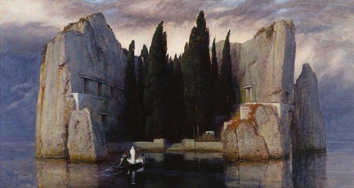 """""""L'isola dei morti"""" di Arnold Böcklin. Terza versione 1883"""