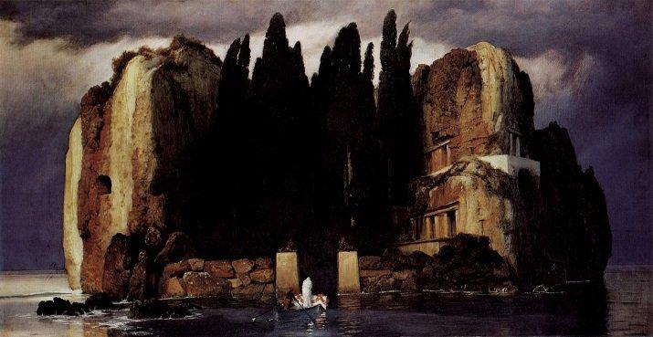 """""""L'isola dei morti"""" di Arnold Böcklin. Quinta versione 1886"""