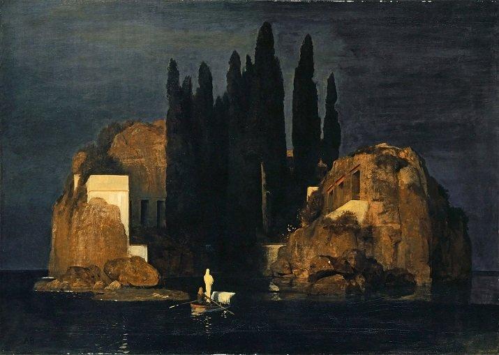 """""""L'isola dei morti"""" di Arnold Böcklin. Prima versione 1880"""