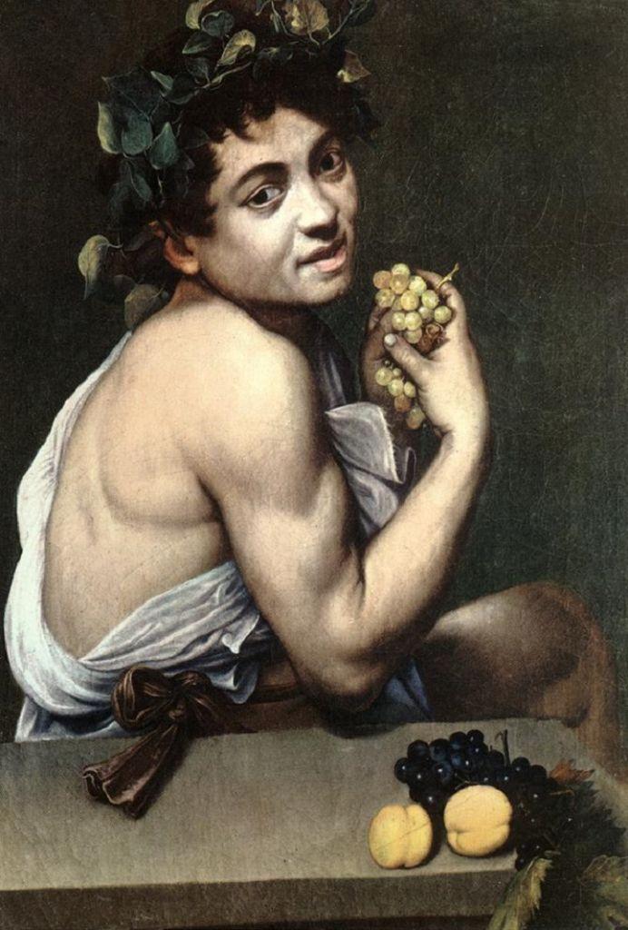 """Il """"Bacchino malato"""" di Caravaggio. Caducità e fugacità della vita. Autoritratto"""