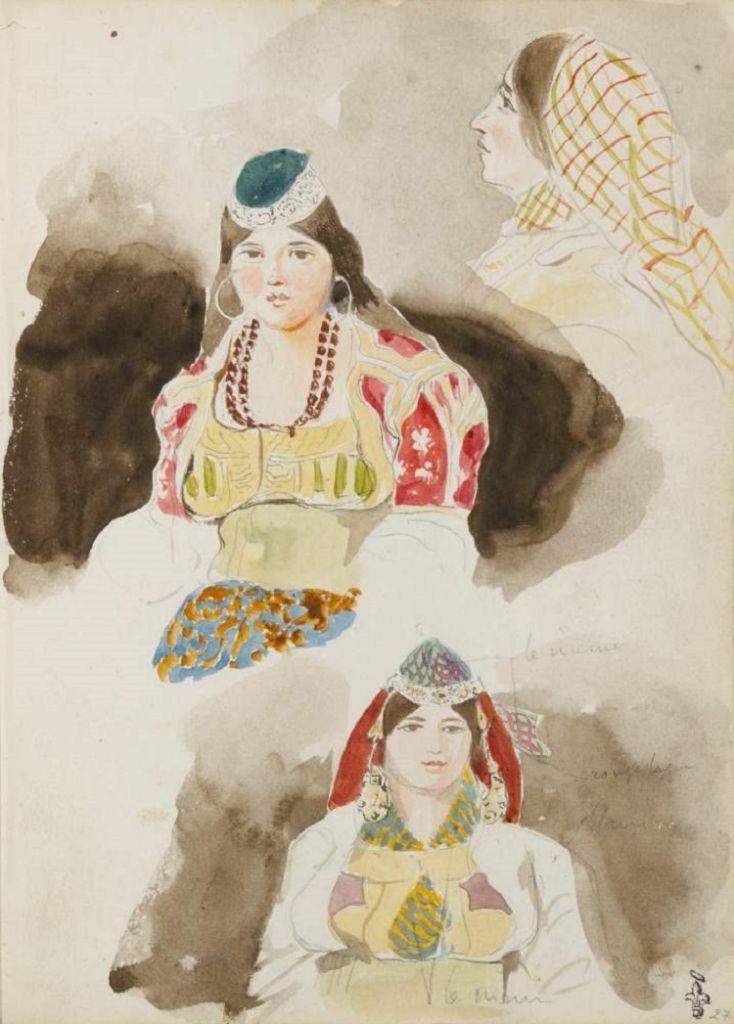 Albums de voyage au Maroc. Archivi di un viaggio in Marocco. Eugène Delacroix