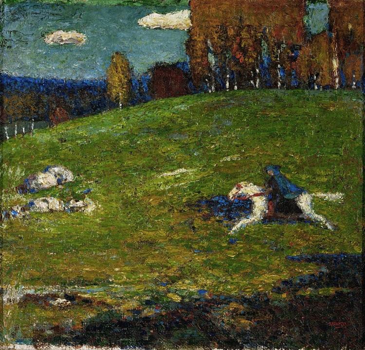 """""""Il cavaliere azzurro"""" di Vasilij Kandinskij"""