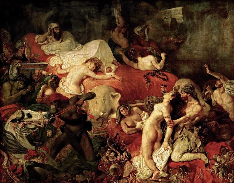 """""""La morte di Sardanapalo"""" di Eugène Delacroix"""