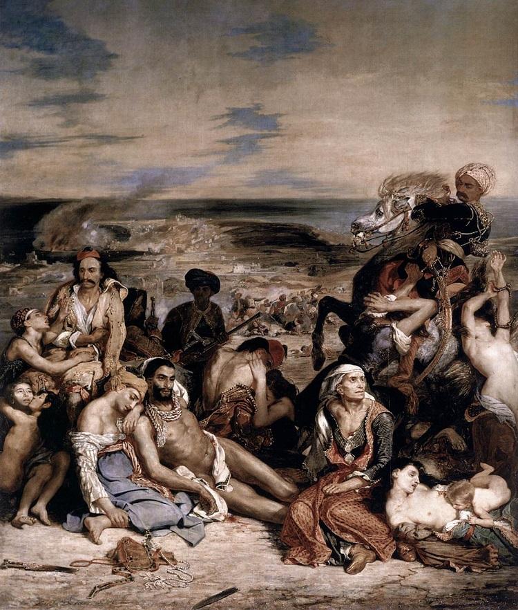 """""""Il massacro di Scio"""" di Eugène Delacroix"""