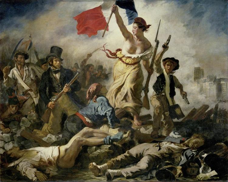 """""""La Libertà guida il popolo"""" di Delacroix"""