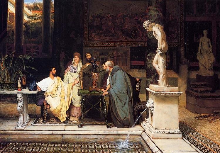 """Neopompeiano. """"Appassionato d'arte romano"""" di Sir Laurence Alma-Tadema"""
