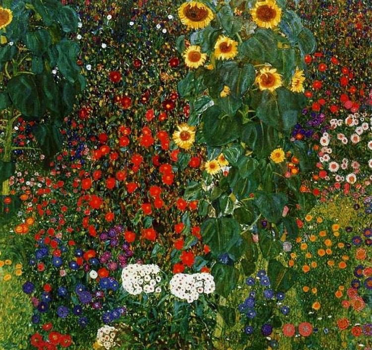 """""""Giardino di campagna con girasoli"""" di Gustav Klimt"""
