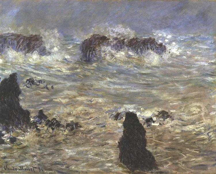 """Tempesta a Belle-Ile"" di Monet"
