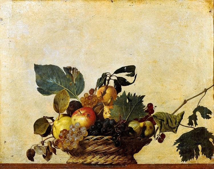 """I fiori nell'arte di Caravaggio. """"Canestra di frutta"""""""