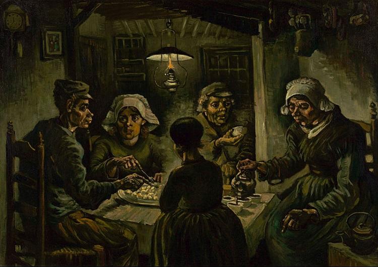 """""""I mangiatori di patate"""" di Vincent van Gogh"""