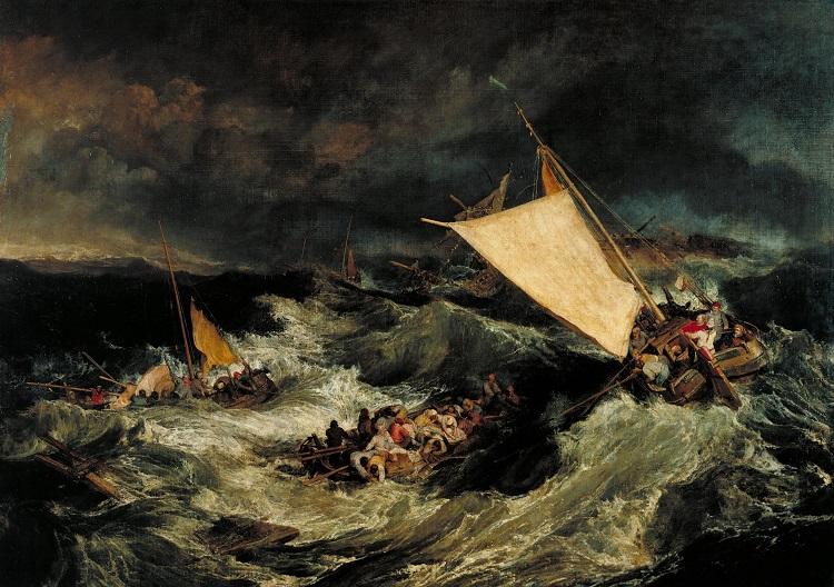 """Il mare nell'arte. """"Il Naufragio"""" di William Turner"""