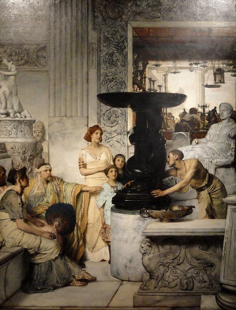 """Neopompeiano. """"La galleria di statue"""" di Sir Laurence Alma-Tadema"""