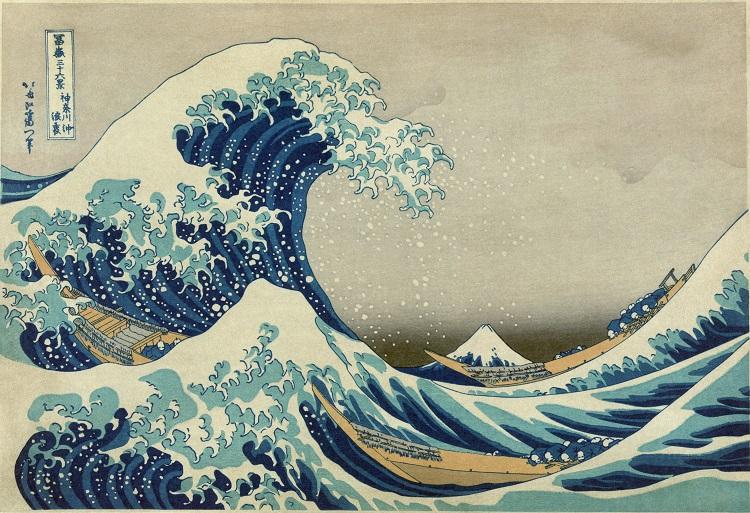 """Il mare nell'arte. """"La Grande Onda"""" di Hokusai"""