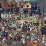 """""""Lotta tra Carnevale e Quaresima"""" di Pieter Bruegel il Vecchio"""