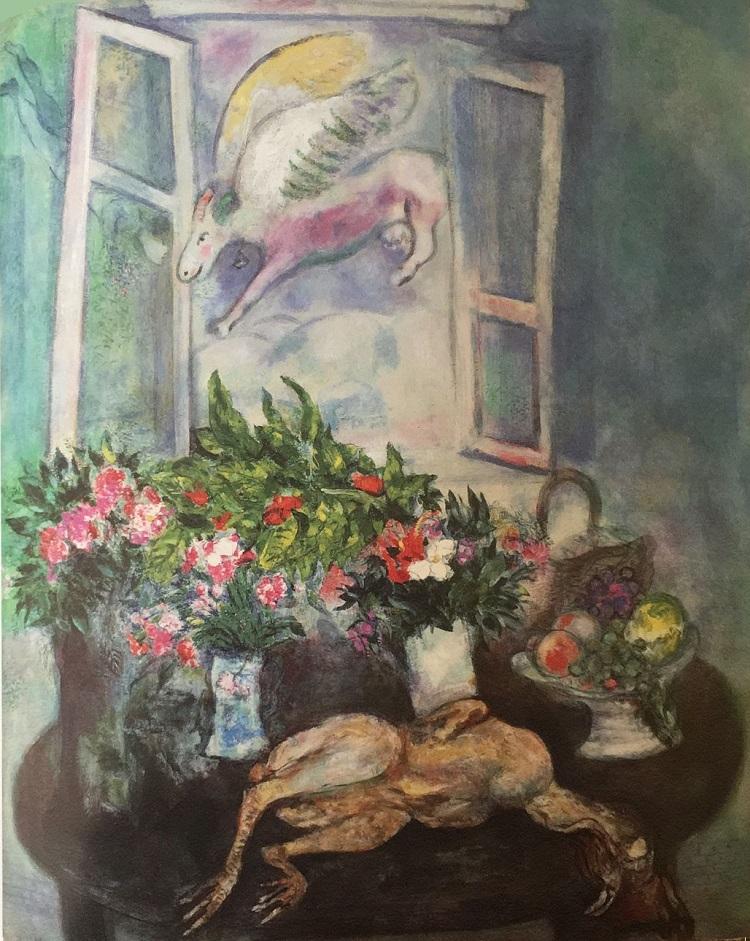 """""""Natura morta alla finestra"""" di Marc Chagall"""