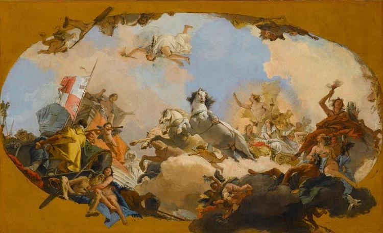 """""""Tiepolo. Venezia, Milano, l'Europa"""". """"Apollo conduce al Genio germanico la sposa Beatrice di Burgundia"""""""