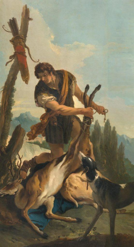 """""""Cacciatore con cervo"""" di Giambattista Tiepolo"""