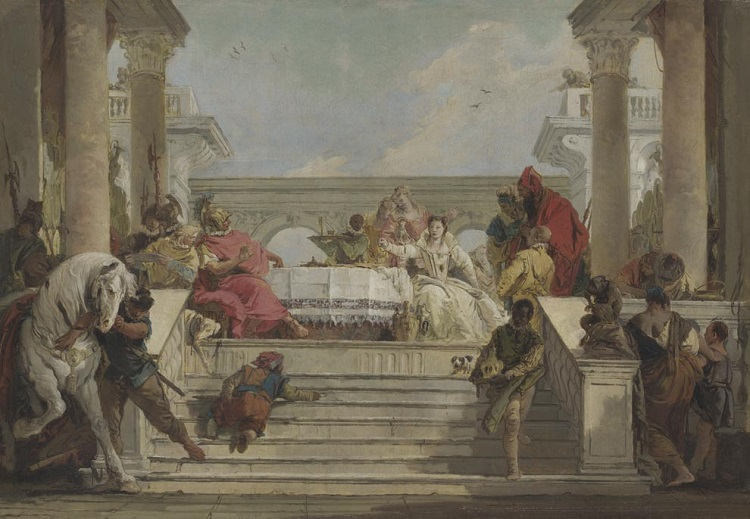 """""""Tiepolo. Venezia, Milano, l'Europa"""". """"Il banchetto di Cleopatra"""""""