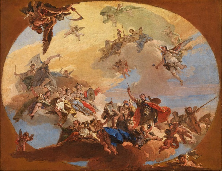 """""""Trionfo delle arti e delle scienze"""" di Giambattista Tiepolo"""