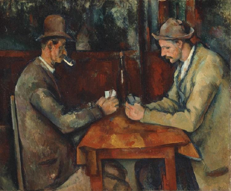 """""""Giocatori di carte"""" di Cèzanne"""