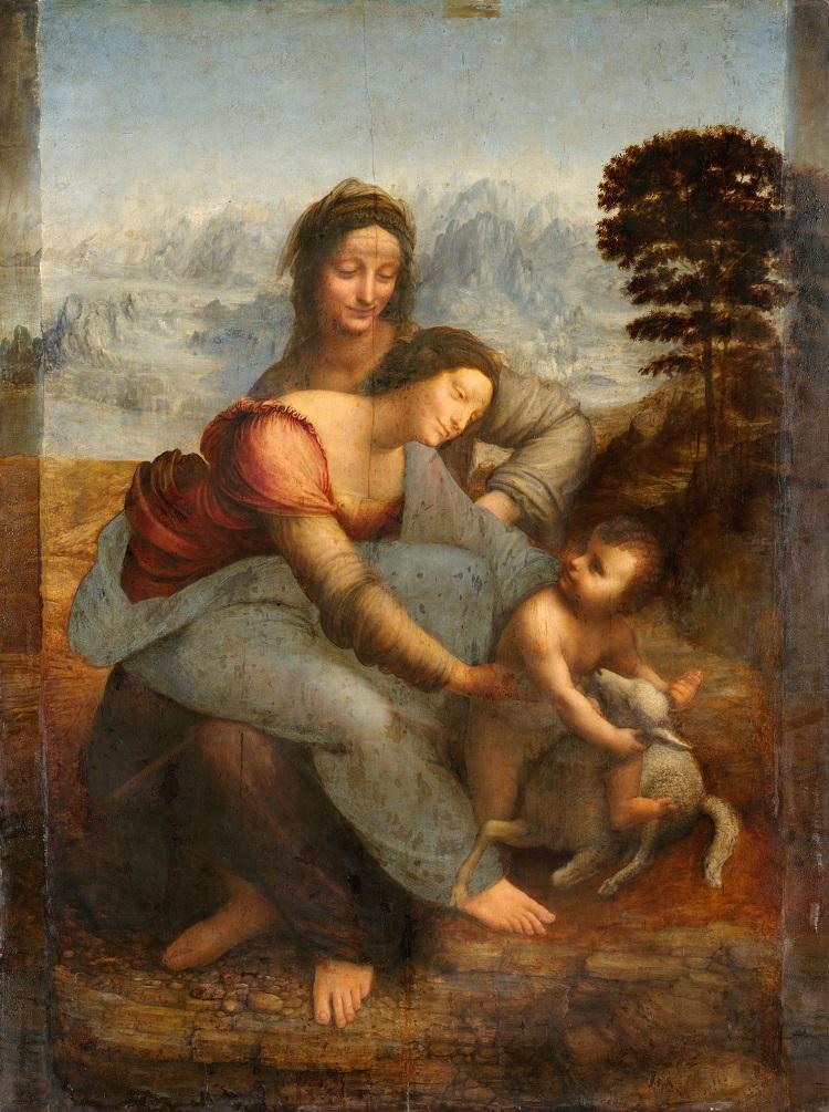 """""""Sant'Anna, la Vergine e il Bambino con l'agnellino"""" di Leonardo da Vinci"""