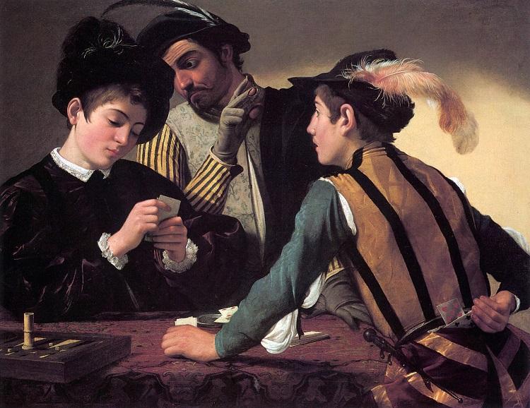 """""""I bari"""" di Caravaggio. Il gioco delle carte nell'arte"""
