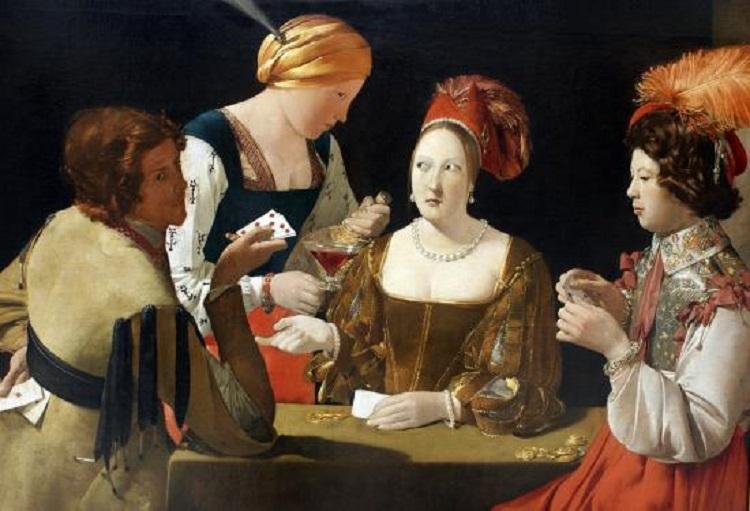 """""""Il baro con l'asso di quadri"""" di Georges De La Tour. Il gioco delle carte nell'arte"""