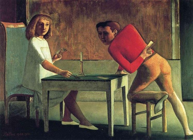 """""""Il gioco di carte"""" di Balthus"""