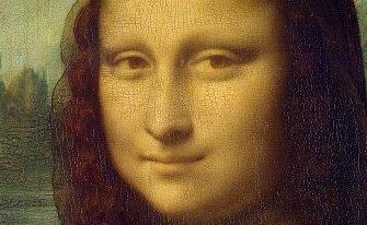 """La """"Gioconda"""" di Leonardo da Vinci. Tecnica dello sfumato. Dettaglio sguardo e sorriso"""