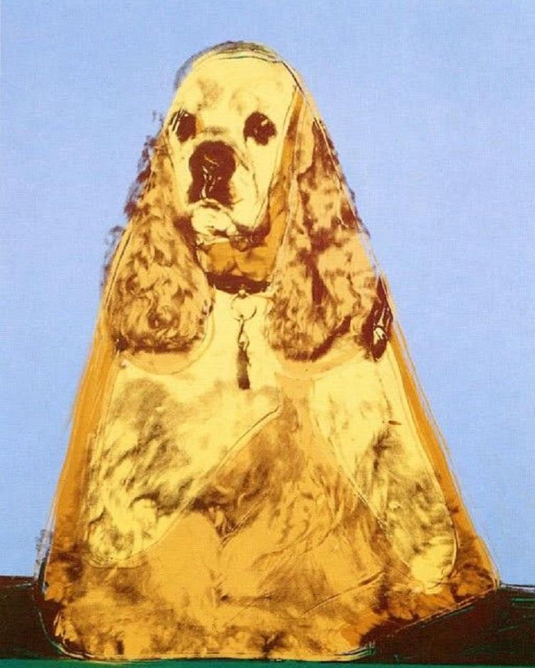 """Il cane nella storia dell'arte. """"Cocker Spaniel"""" di Andy Warhol"""