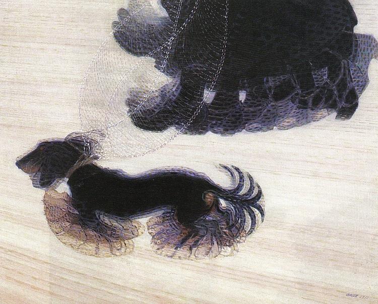 """Il cane nella storia dell'arte. """"Dinamismo di un cane al guinzaglio"""" di Balla"""