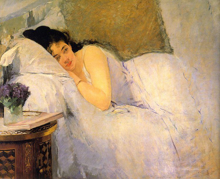 """""""Morning awakening"""" di Eva Gonzales"""