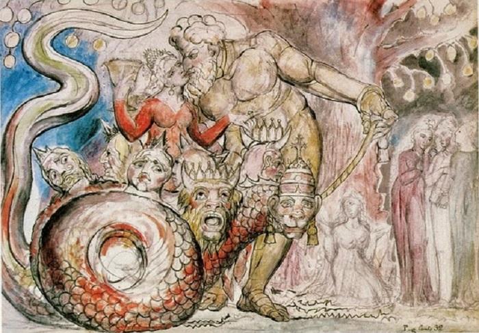 """""""Inferno"""" di William Blake. Le illustrazioni della Divina Commedia di Dante"""