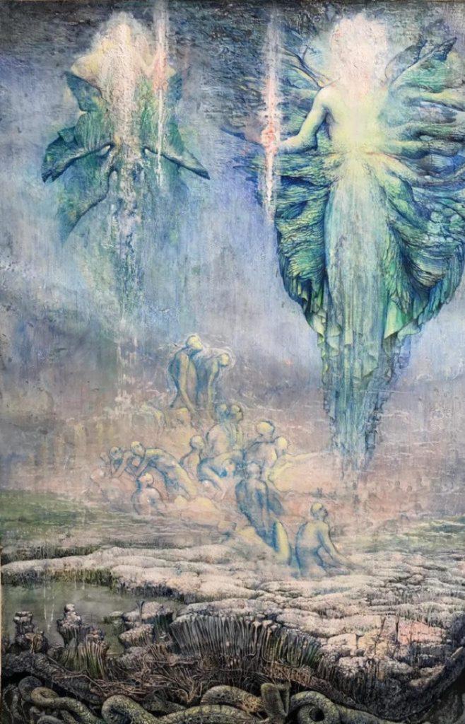 """""""Canto VIII - Purgatorio"""" di Agostino Arrivabene. Le illustrazioni della Divina Commedia di Dante"""