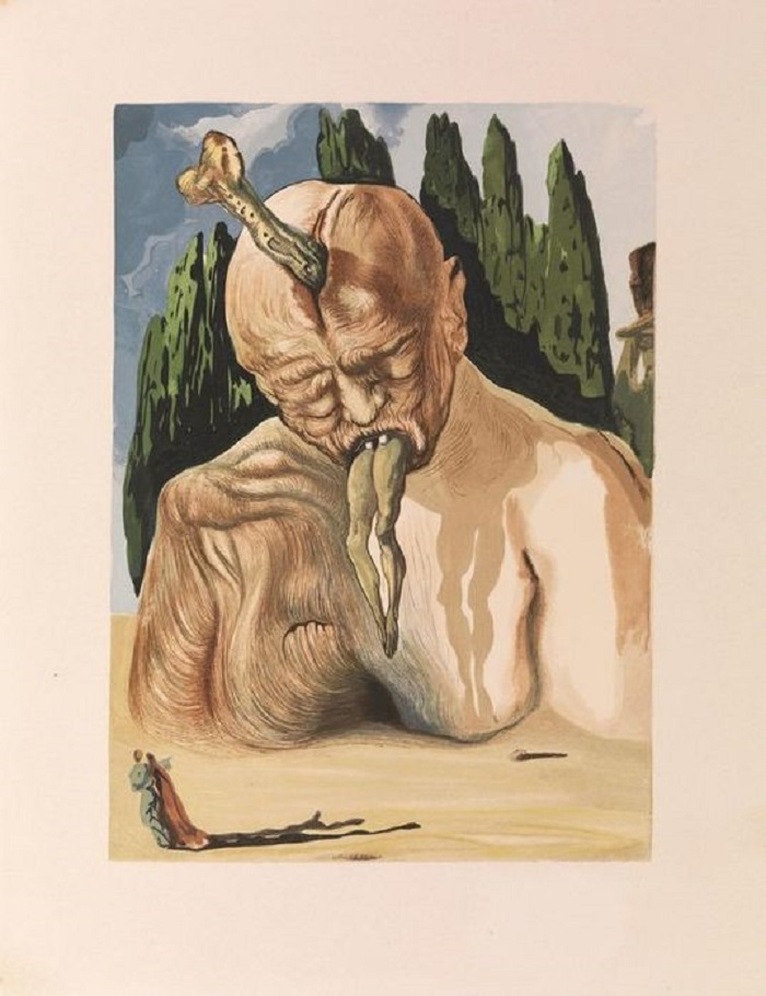 """""""Lucifero - Inferno"""" di Salvador Dalì. Le illustrazioni della Divina Commedia di Dante"""