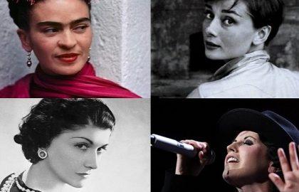 Donne nell'arte. Frida Kahlo, Audrey Hepburn, Coco Chanel, Dolore O'Riordan