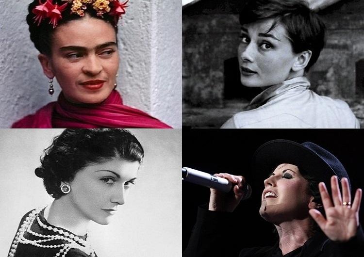 Donne nell'arte- Frida Kahlo, Audrey Hepburn, Coco Chanel, Dolore O'Riordan